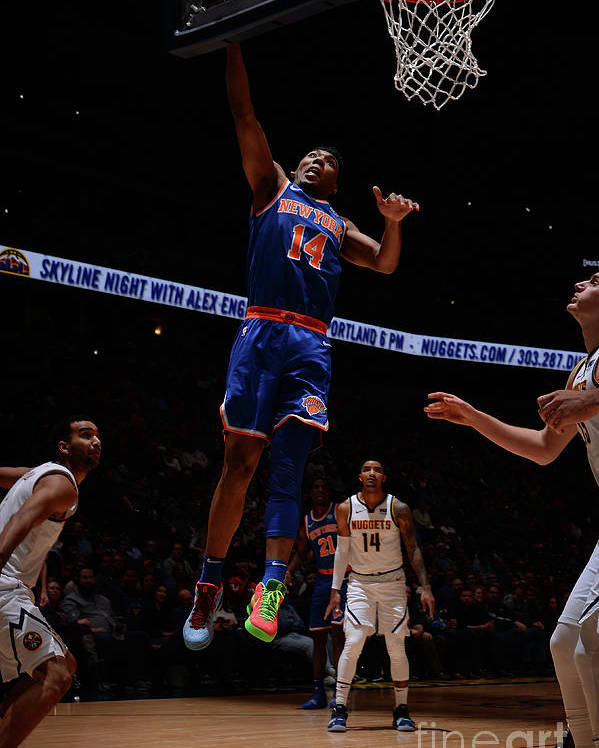 Nba Pro Basketball Poster featuring the photograph New York Knicks V Denver Nuggets by Bart Young