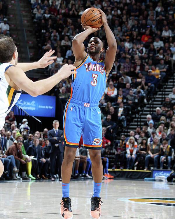 Nba Pro Basketball Poster featuring the photograph Oklahoma City Thunder V Utah Jazz by Melissa Majchrzak