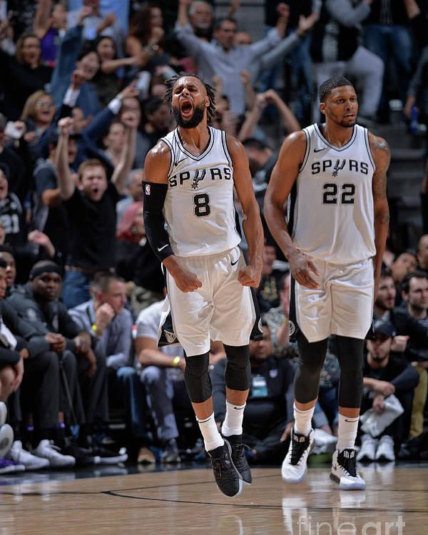 Nba Pro Basketball Poster featuring the photograph Sacramento Kings V San Antonio Spurs by Mark Sobhani