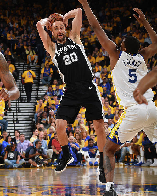 Playoffs Poster featuring the photograph San Antonio Spurs V Golden State by Andrew D. Bernstein