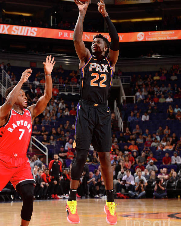 Nba Pro Basketball Poster featuring the photograph Toronto Raptors V Phoenix Suns by Barry Gossage
