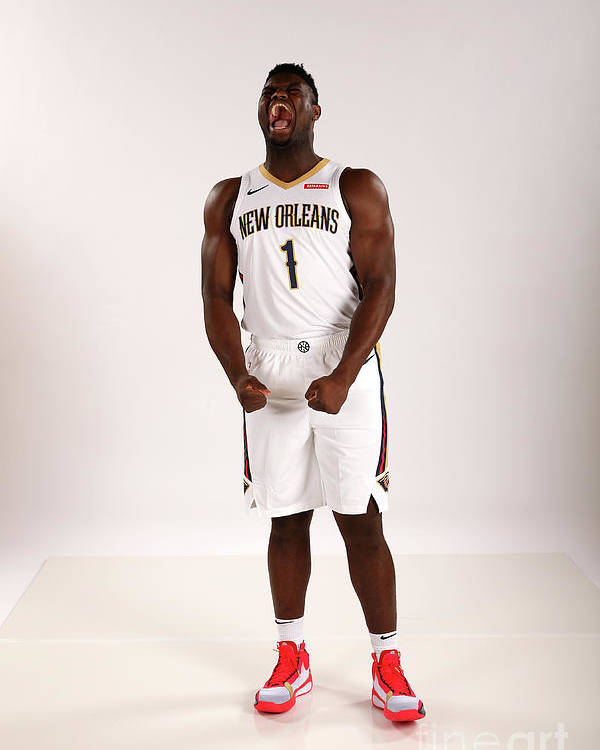 Media Day Poster featuring the photograph 2019-20 New Orleans Pelicans Media Day by Layne Murdoch Jr.
