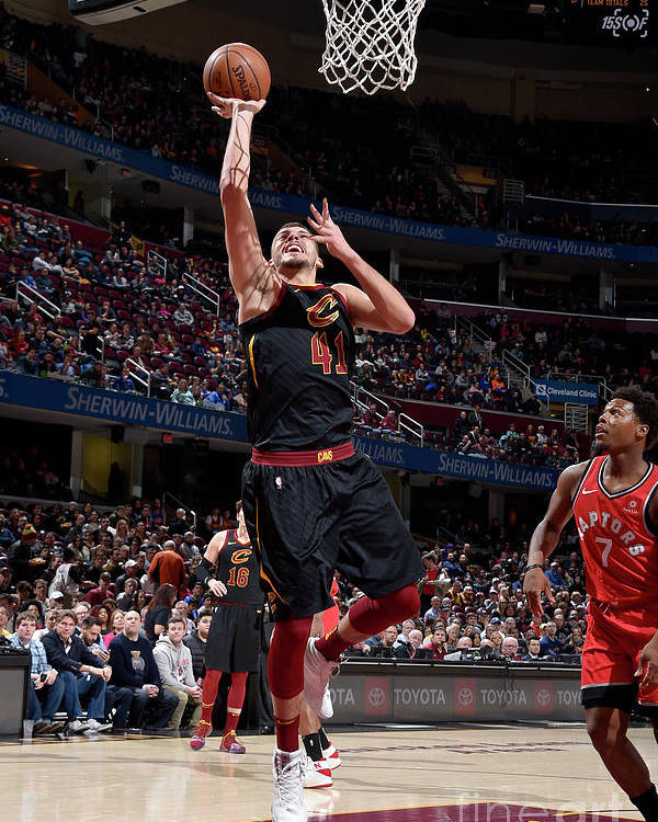 Nba Pro Basketball Poster featuring the photograph Toronto Raptors V Cleveland Cavaliers by David Liam Kyle