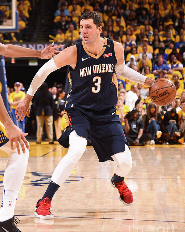 Playoffs Poster featuring the photograph New Orleans Pelicans V Golden State by Noah Graham