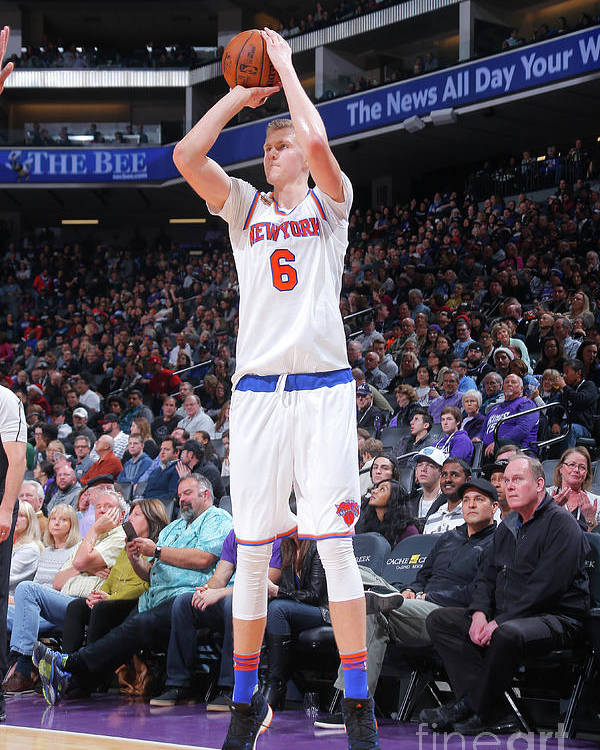 Nba Pro Basketball Poster featuring the photograph New York Knicks V Sacramento Kings by Rocky Widner