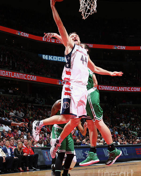 Playoffs Poster featuring the photograph Boston Celtics V Washington Wizards - by Ned Dishman
