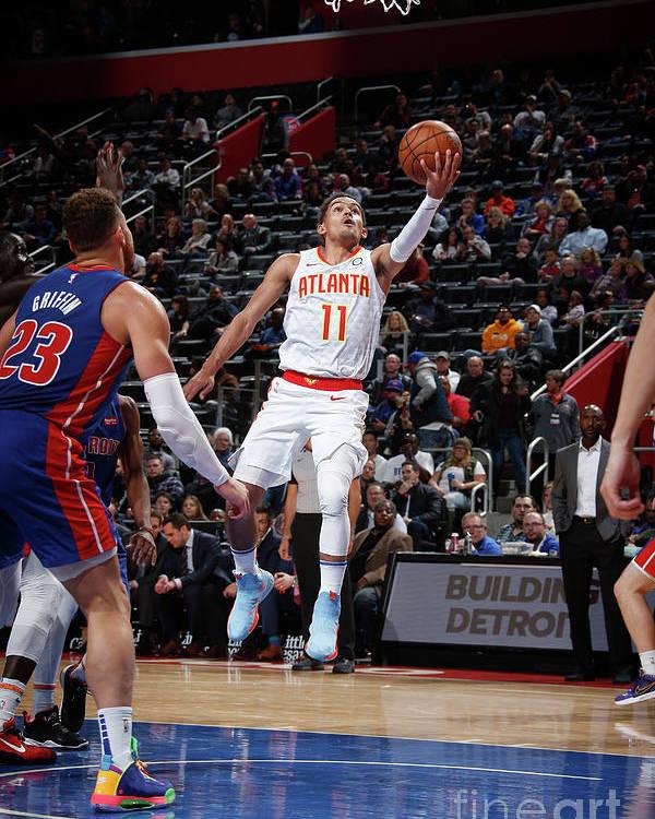 Nba Pro Basketball Poster featuring the photograph Atlanta Hawks V Detroit Pistons by Brian Sevald