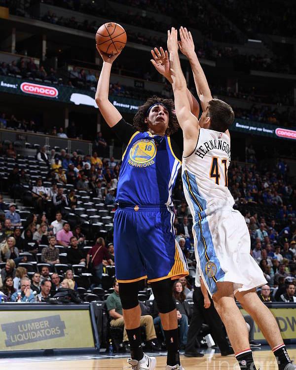 Nba Pro Basketball Poster featuring the photograph Golden State Warriors V Denver Nuggets by Garrett Ellwood