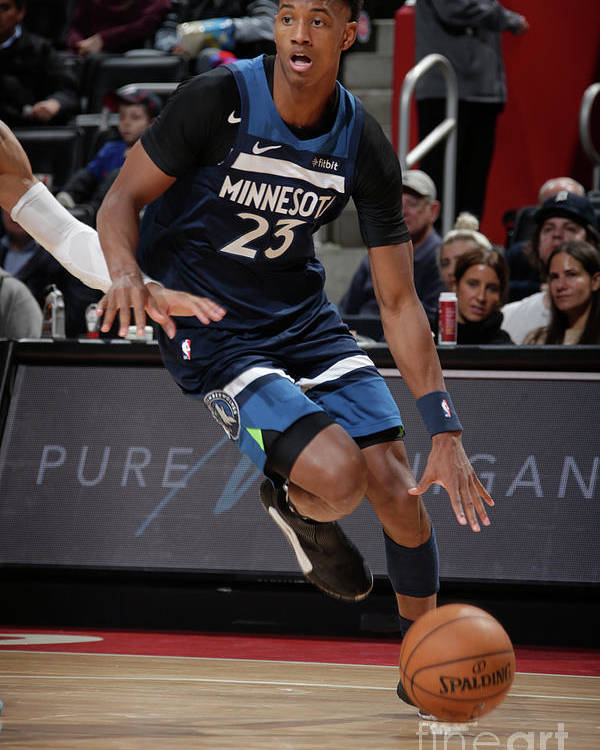 Nba Pro Basketball Poster featuring the photograph Minnesota Timberwolves V Detroit Pistons by Brian Sevald