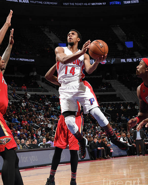 Nba Pro Basketball Poster featuring the photograph New Orleans Pelicans V Detroit Pistons by Chris Schwegler