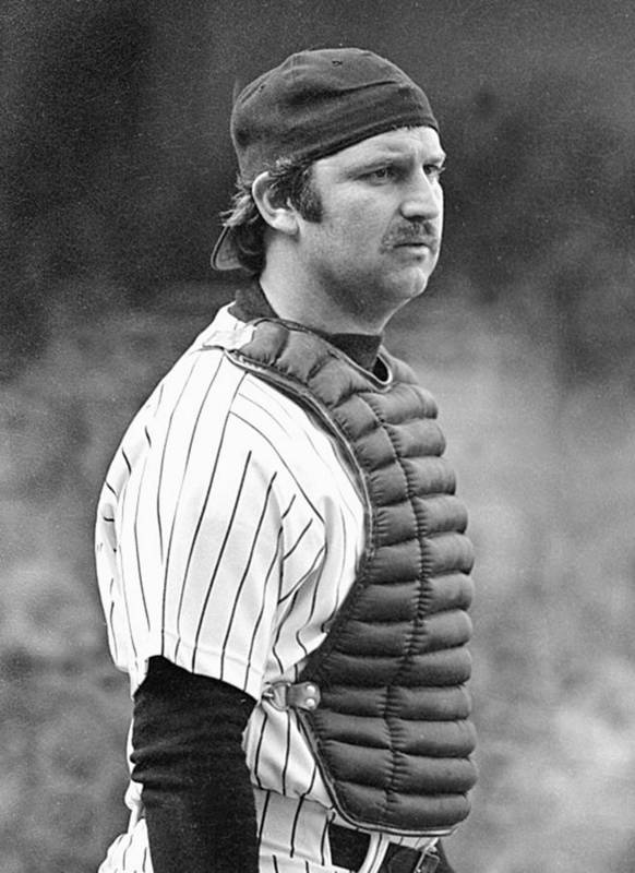 Thurman Munson Poster featuring the photograph New York Yankees 3 by Ronald C. Modra/sports Imagery