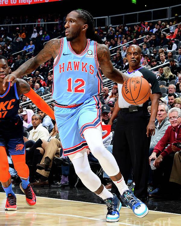 Atlanta Poster featuring the photograph Oklahoma City Thunder V Atlanta Hawks by Scott Cunningham
