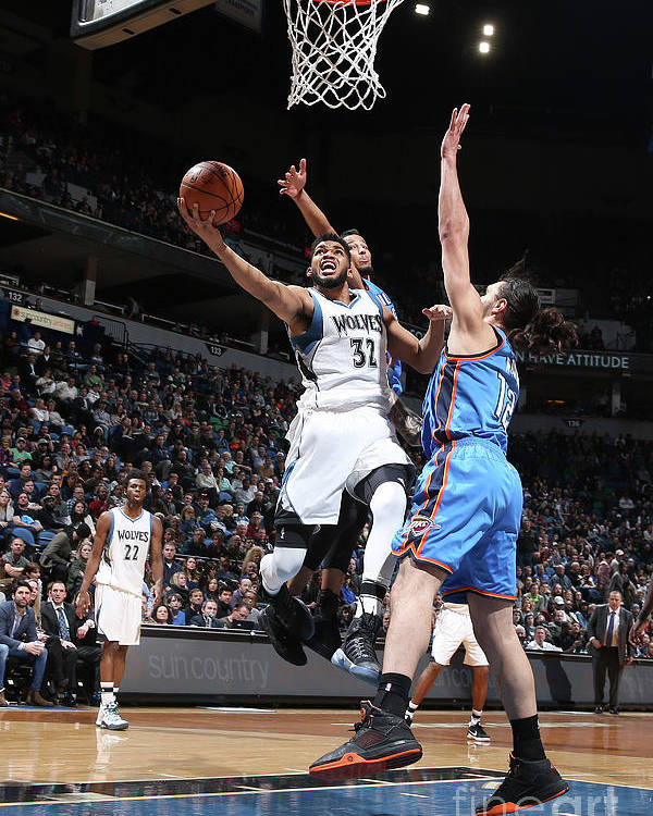 Nba Pro Basketball Poster featuring the photograph Oklahoma City Thunder V Minnesota by David Sherman