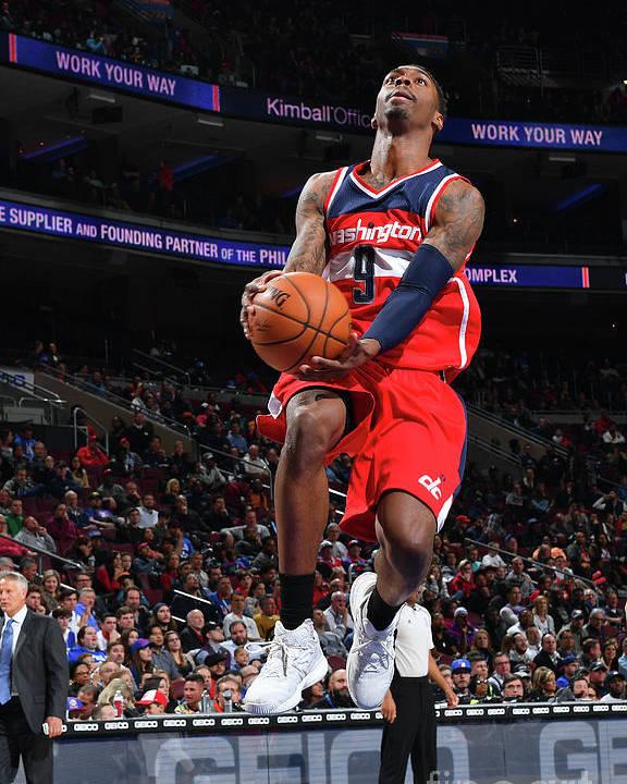 Nba Pro Basketball Poster featuring the photograph Philadelphia 76ers V Washington Wizards by Jesse D. Garrabrant