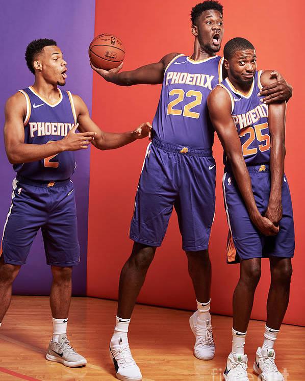 Nba Pro Basketball Poster featuring the photograph 2018 Nba Rookie Photo Shoot by Jennifer Pottheiser