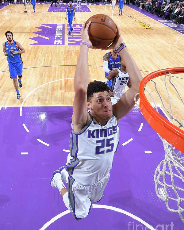 Nba Pro Basketball Poster featuring the photograph Oklahoma City Thunder V Sacramento Kings by Rocky Widner