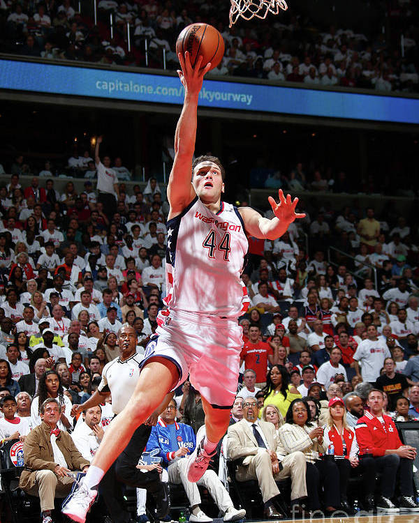 Playoffs Poster featuring the photograph Atlanta Hawks V Washington Wizards - by Ned Dishman