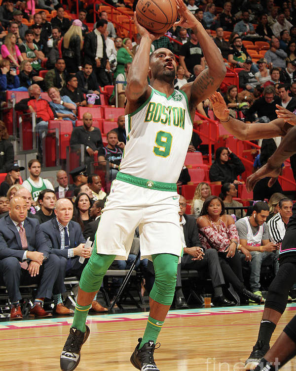 Nba Pro Basketball Poster featuring the photograph Boston Celtics V Miami Heat by Oscar Baldizon