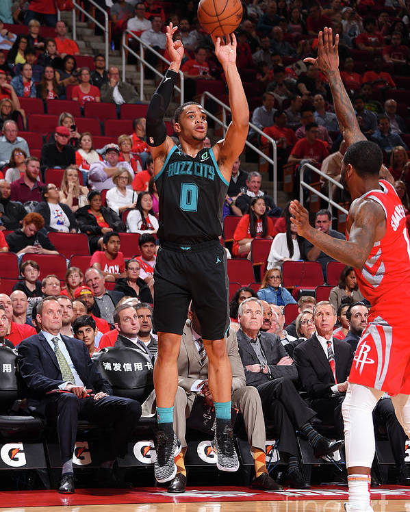 Nba Pro Basketball Poster featuring the photograph Charlotte Hornets V Houston Rockets by Bill Baptist