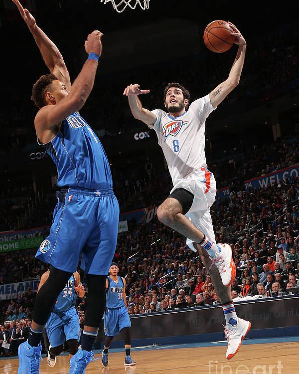 Nba Pro Basketball Poster featuring the photograph Dallas Mavericks V Oklahoma City Thunder by Layne Murdoch