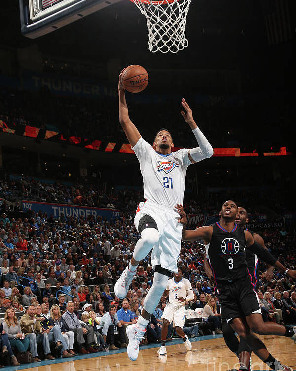Nba Pro Basketball Poster featuring the photograph La Clippers V Oklahoma City Thunder by Layne Murdoch