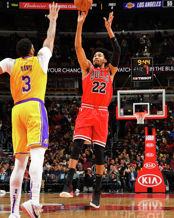 Chicago Bulls Poster featuring the photograph Los Angeles Lakers V Chicago Bulls by Jesse D. Garrabrant