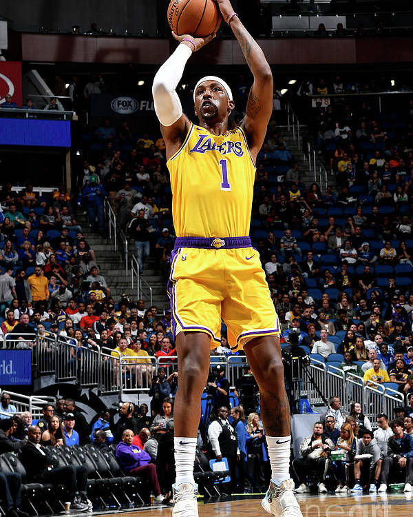 Nba Pro Basketball Poster featuring the photograph Los Angeles Lakers V Orlando Magic by Fernando Medina
