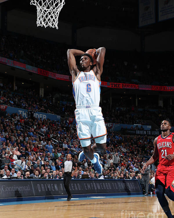 Nba Pro Basketball Poster featuring the photograph New Orleans Pelicans V Oklahoma City by Joe Murphy