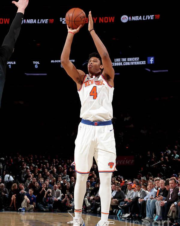 Nba Pro Basketball Poster featuring the photograph Orlando Magic V New York Knicks by Nathaniel S. Butler