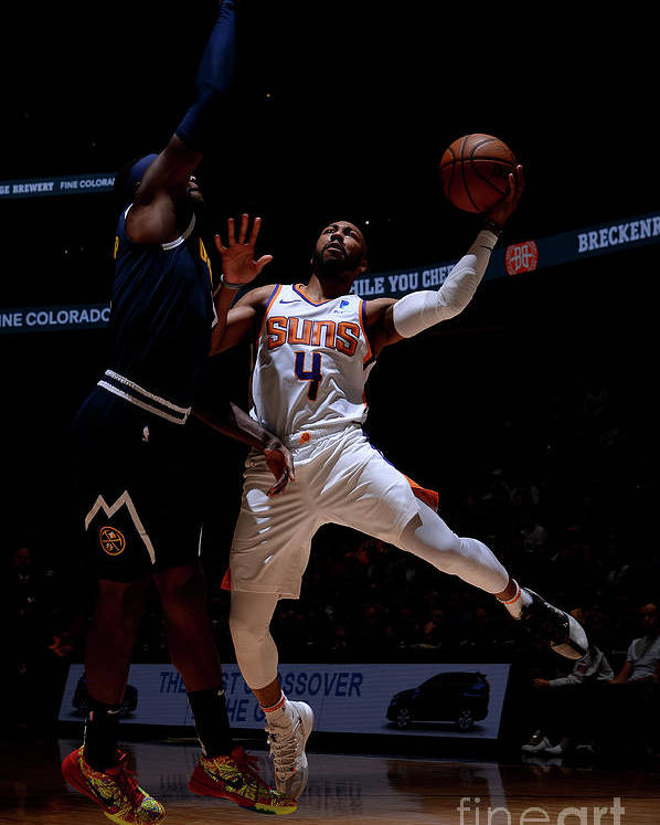 Nba Pro Basketball Poster featuring the photograph Phoenix Suns V Denver Nuggets by Bart Young