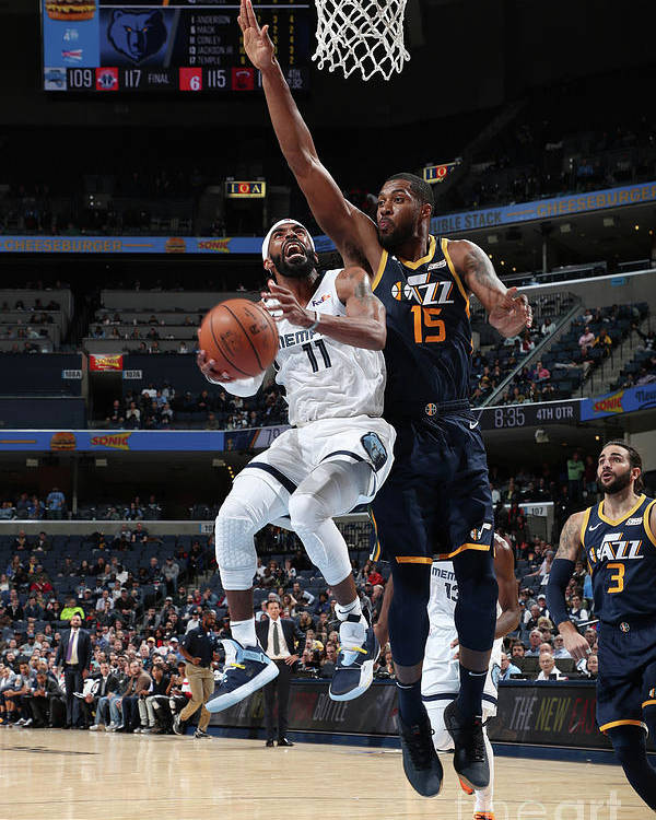 Nba Pro Basketball Poster featuring the photograph Utah Jazz V Memphis Grizzlies by Joe Murphy