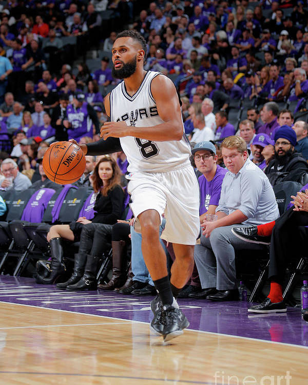 Nba Pro Basketball Poster featuring the photograph San Antonio Spurs V Sacramento Kings by Rocky Widner