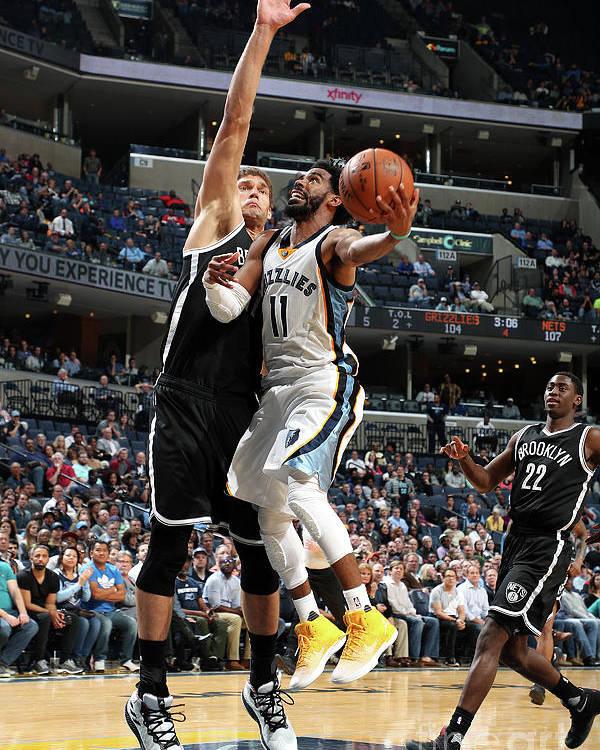 Nba Pro Basketball Poster featuring the photograph Brooklyn Nets V Memphis Grizzlies by Joe Murphy