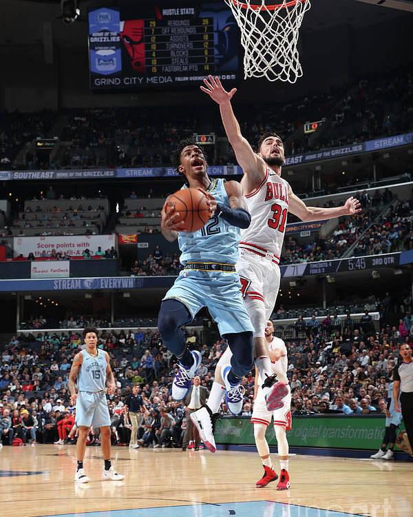Nba Pro Basketball Poster featuring the photograph Chicago Bulls V Memphis Grizzlies by Joe Murphy