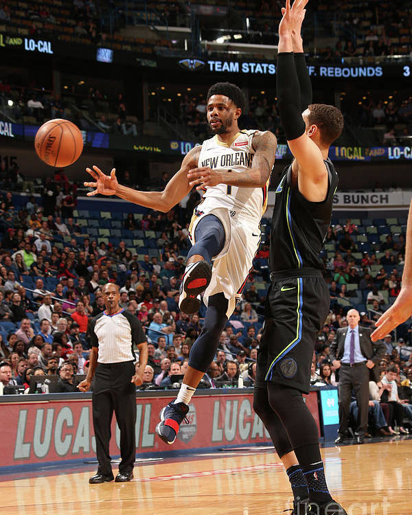 Smoothie King Center Poster featuring the photograph Dallas Mavericks V New Orleans Pelicans by Layne Murdoch