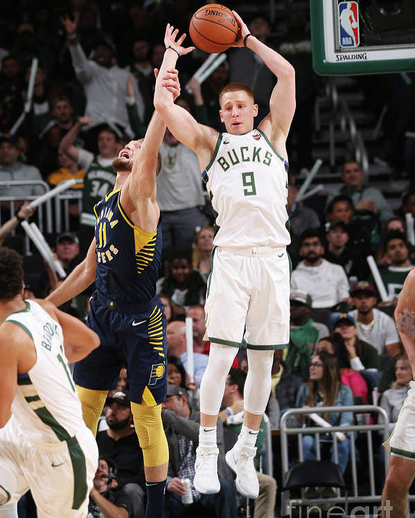 Nba Pro Basketball Poster featuring the photograph Indiana Pacers V Milwaukee Bucks by Gary Dineen