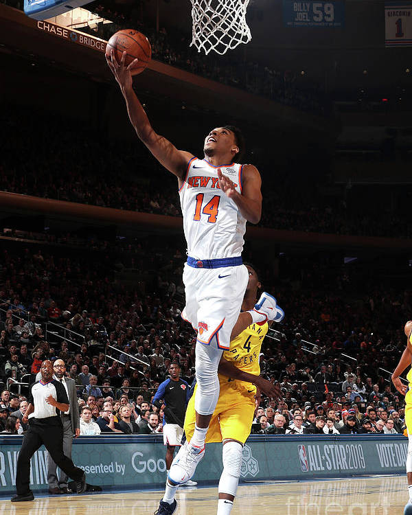 Nba Pro Basketball Poster featuring the photograph Indiana Pacers V New York Knicks by Nathaniel S. Butler