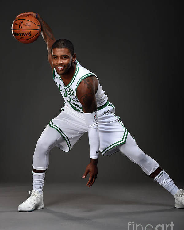 Nba Pro Basketball Poster featuring the photograph Kyrie Irving Boston Celtics Portraits by Brian Babineau