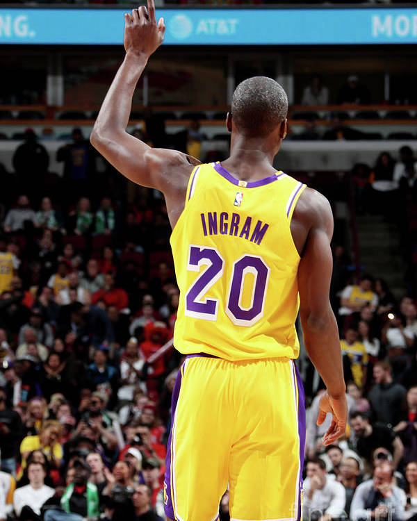Andre Ingram Poster featuring the photograph Los Angeles Lakers V Chicago Bulls by Nathaniel S. Butler