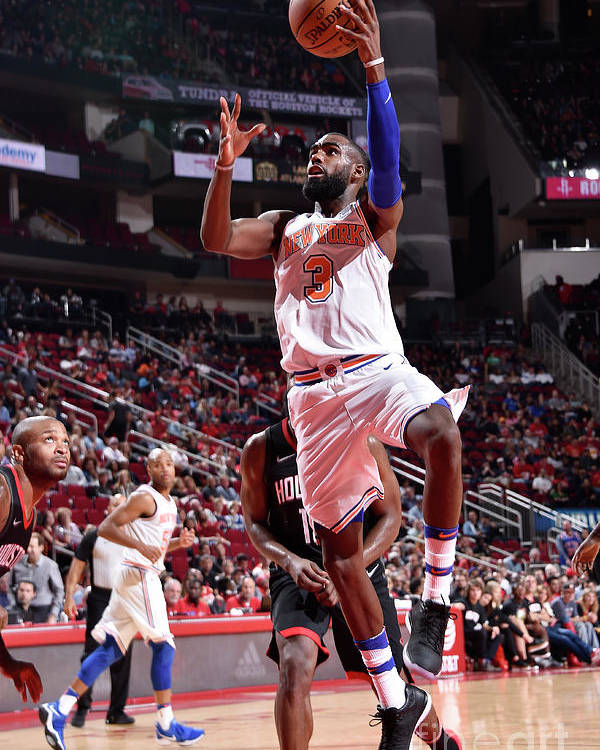Tim Hardaway Jr. Poster featuring the photograph New York Knicks V Houston Rockets by Bill Baptist