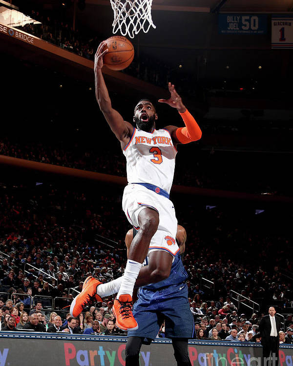 Tim Hardaway Jr. Poster featuring the photograph Orlando Magic V New York Knicks by Nathaniel S. Butler
