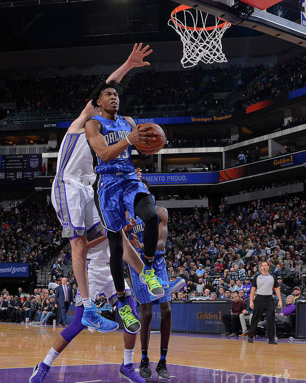 Nba Pro Basketball Poster featuring the photograph Orlando Magic V Sacramento Kings by Rocky Widner