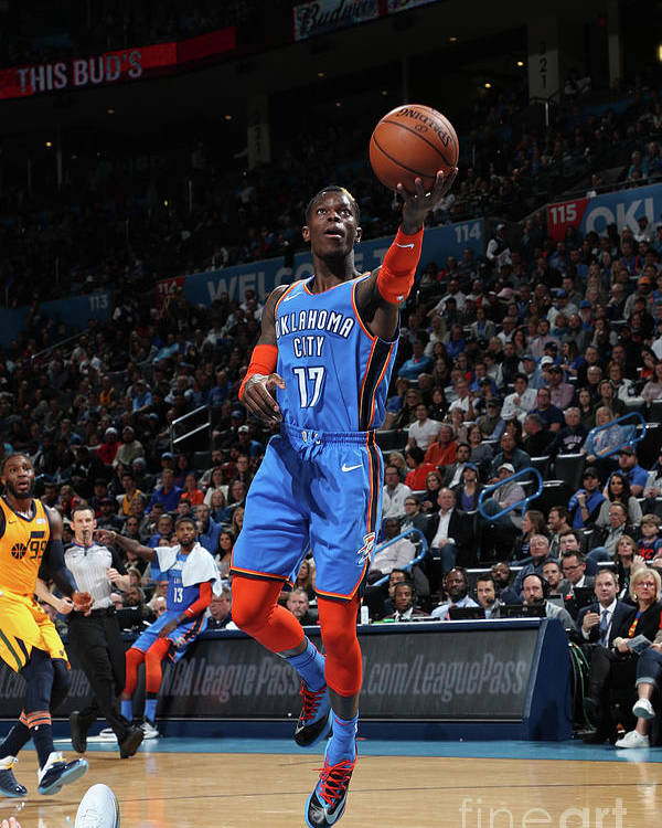 Nba Pro Basketball Poster featuring the photograph Utah Jazz V Oklahoma City Thunder by Zach Beeker
