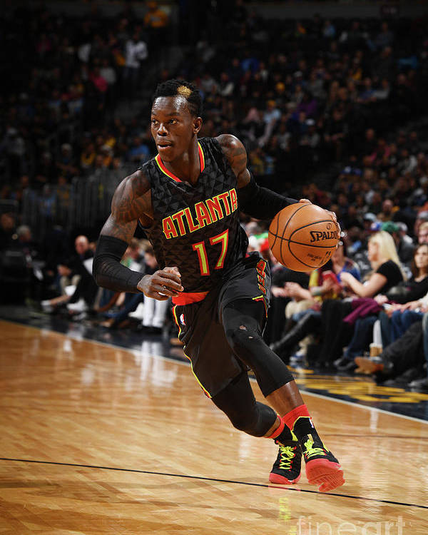 Nba Pro Basketball Poster featuring the photograph Atlanta Hawks V Denver Nuggets by Garrett Ellwood