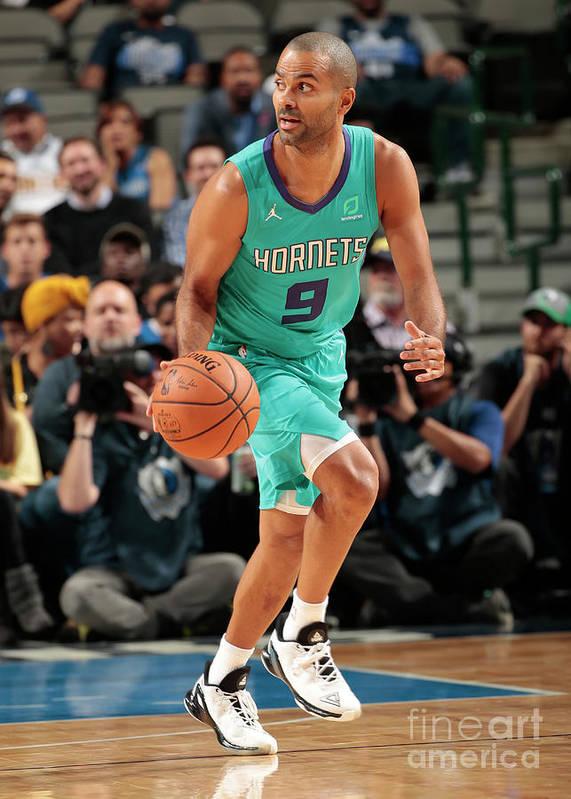 Nba Pro Basketball Poster featuring the photograph Charlotte Hornets V Dallas Mavericks by Glenn James