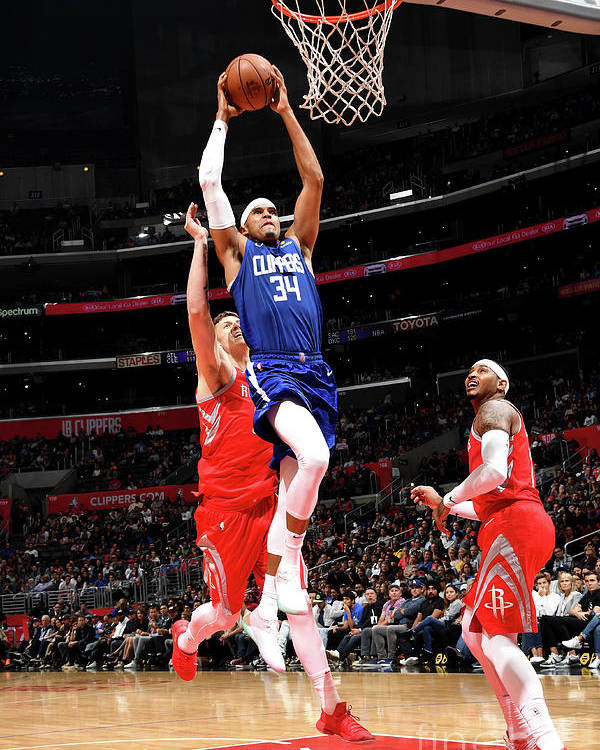 Nba Pro Basketball Poster featuring the photograph Houston Rockets V La Clippers 6 by Andrew D. Bernstein
