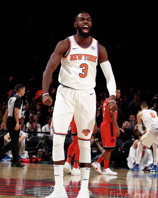 Tim Hardaway Jr. Poster featuring the photograph Toronto Raptors V New York Knicks by Nathaniel S. Butler