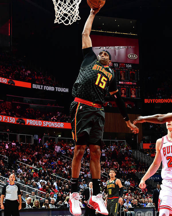 Atlanta Poster featuring the photograph Chicago Bulls V Atlanta Hawks by Scott Cunningham