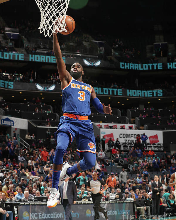 Tim Hardaway Jr. Poster featuring the photograph New York Knicks V Charlotte Hornets by Kent Smith