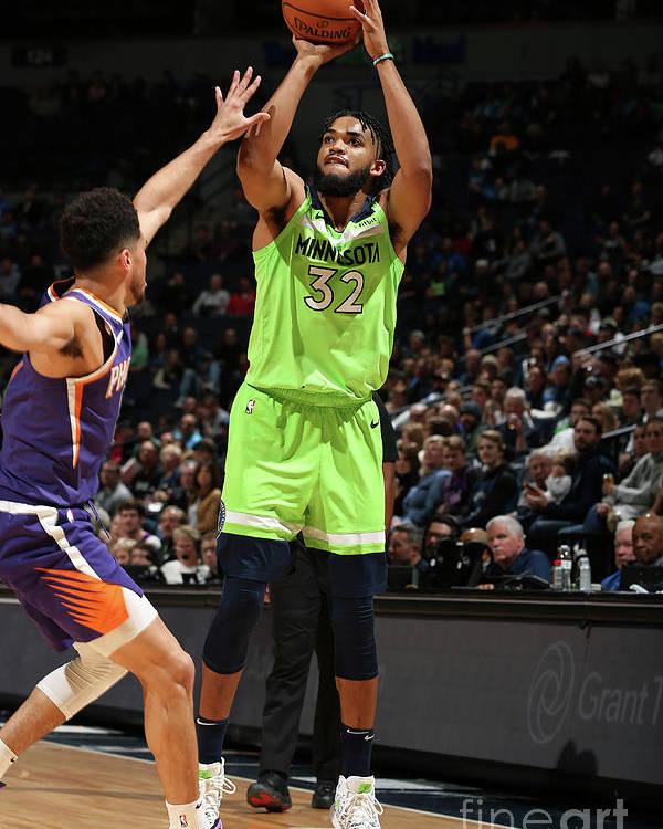 Nba Pro Basketball Poster featuring the photograph Phoenix Suns V Minnesota Timberwolves by David Sherman